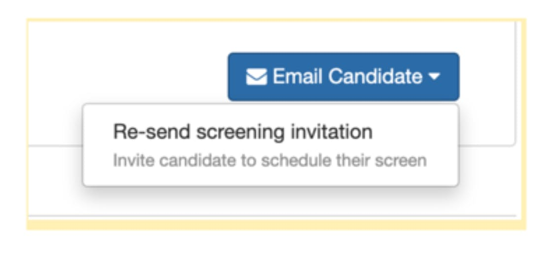 email candidate